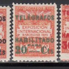 Sellos: BARCELONA. TELÉGRAFOS. 1929 EDIFIL Nº 1 / 3 /*/,. Lote 245903535