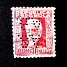 Sellos: 659, SELLO USADO, CON PERFORACIÓN: A.S.A.B. (ANGLO SOUTH AMERICAN BANK) ALFONSO XIII.. Lote 246069325