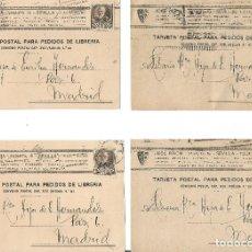 Sellos: LOTE DE 4 TARJETAS POSTALES FRANCISCO PI Y MARGALL EDIFIL 663 CIRCULADAS.. Lote 246458585