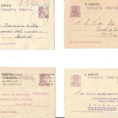 Sellos: LOTE DE 4 TARJETAS POSTALES MATRONA 15CS. REPÚBLICA ESPAÑOLA. CIRCULADAS.. Lote 246458885