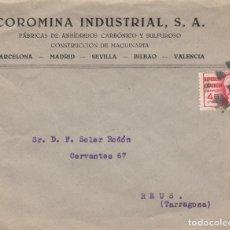 Sellos: CARTA DE COROMINA INDUSTRIAL CON SELLO DE LA REPÚBLICA Y MATASELLOS MUDO. Lote 247726930