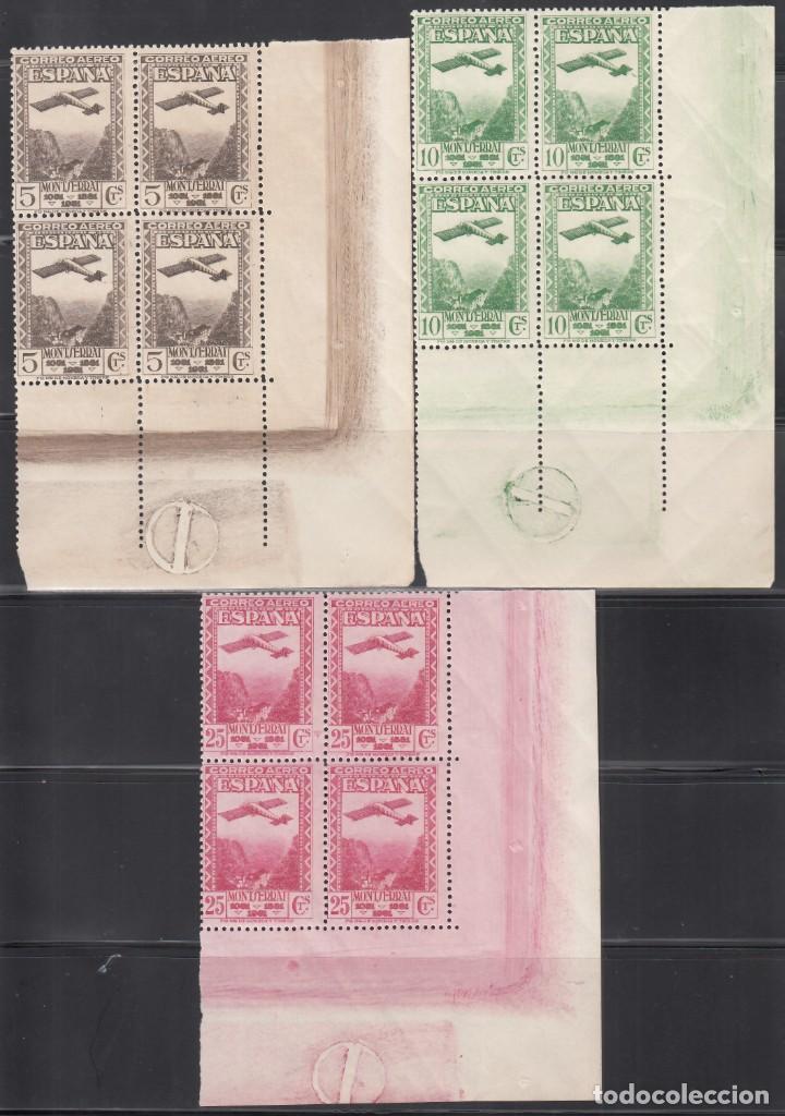 Sellos: ESPAÑA, 1931 EDIFIL Nº 650 / 654 /**/, Bloque de Cuatro, Esquina de pliego. SIN FIJASELLOS - Foto 2 - 248265980