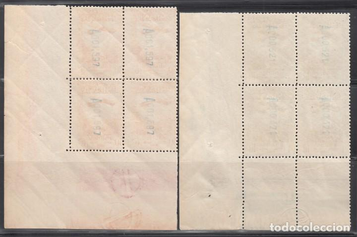 Sellos: ESPAÑA, 1931 EDIFIL Nº 650 / 654 /**/, Bloque de Cuatro, Esquina de pliego. SIN FIJASELLOS - Foto 5 - 248265980