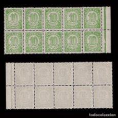 Sellos: 1938.CIFRAS.10C.MNH.EDIFIL.746D DENT. 13 1/2.. Lote 251996955