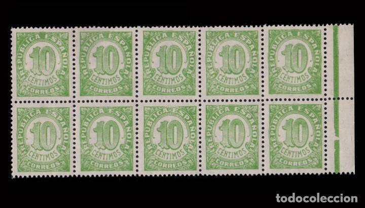 Sellos: 1938.Cifras.10c.MNH.Edifil.746d Dent. 13 1/2. - Foto 2 - 251996955
