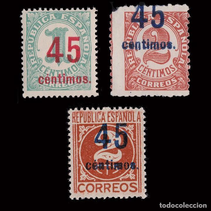 1938.CIFRAS.HABILIADOS.SERIE MNH.EDIFIL.742-744 (Sellos - España - II República de 1.931 a 1.939 - Nuevos)