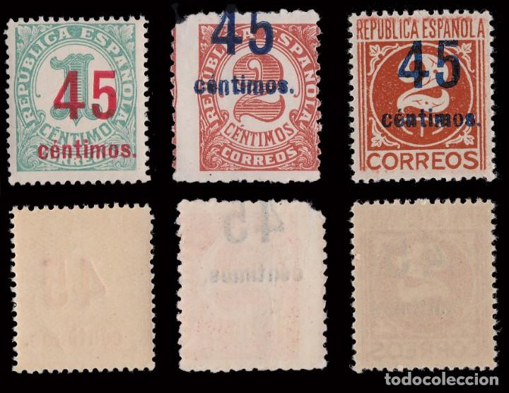 Sellos: 1938.Cifras.Habiliados.Serie MNH.Edifil.742-744 - Foto 2 - 252180955