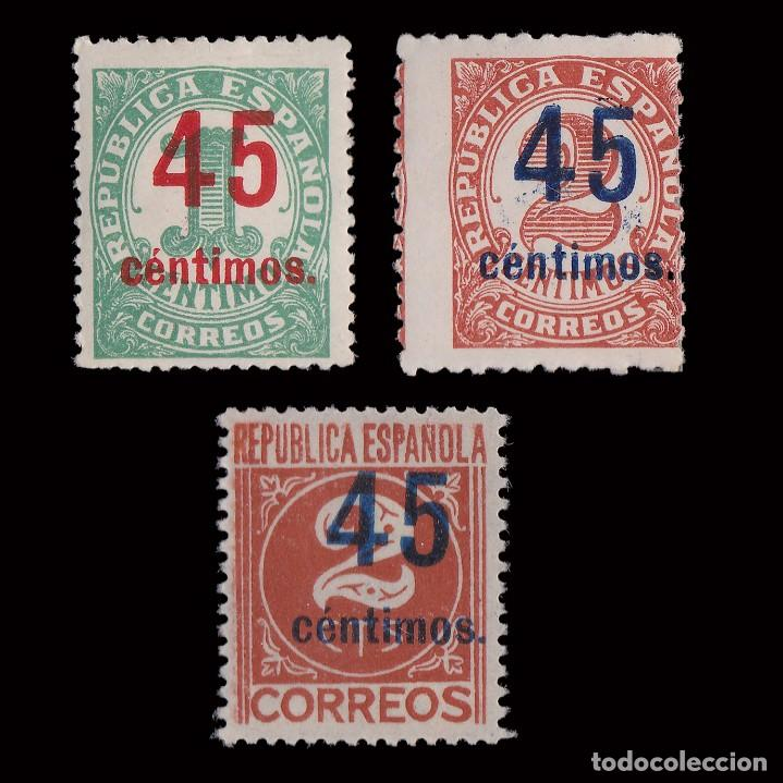 1938. CIFRAS. HABILIADOS.SERIE MH.EDIFIL.742-744 (Sellos - España - II República de 1.931 a 1.939 - Nuevos)