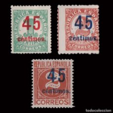 Sellos: 1938. CIFRAS. HABILIADOS.SERIE MH.EDIFIL.742-744. Lote 252181720
