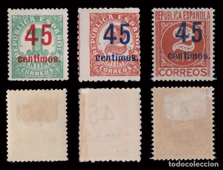 Sellos: 1938. Cifras. Habiliados.Serie MH.Edifil.742-744 - Foto 2 - 252181720