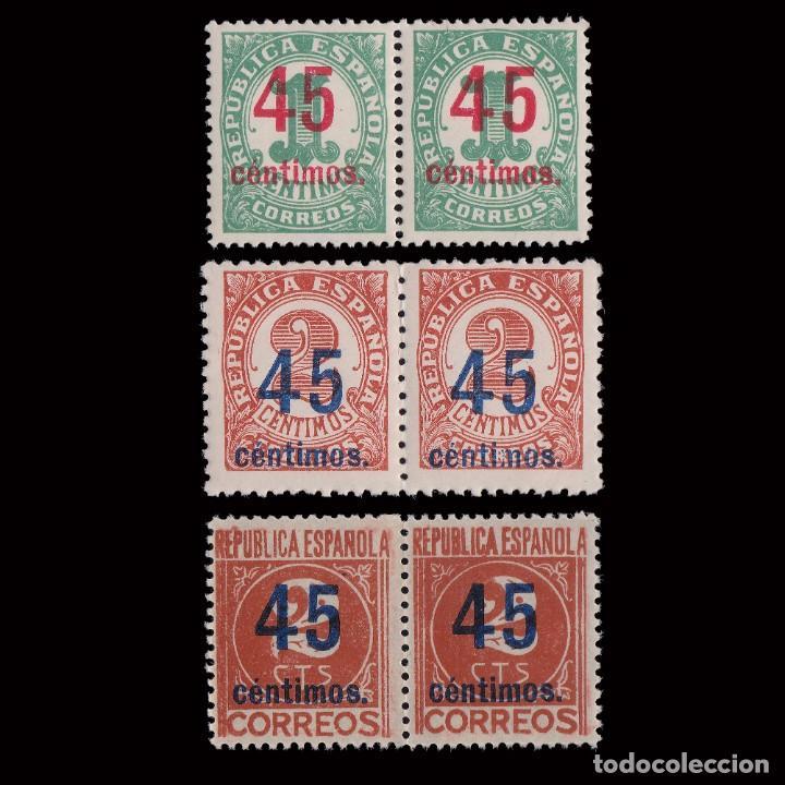 1938. CIFRAS.CENTRADOS.SERIE BLQ2. MNH.EDIFIL.742-744 (Sellos - España - II República de 1.931 a 1.939 - Nuevos)