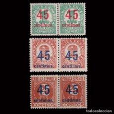 Sellos: 1938. CIFRAS.CENTRADOS.SERIE BLQ2. MNH.EDIFIL.742-744. Lote 252184390