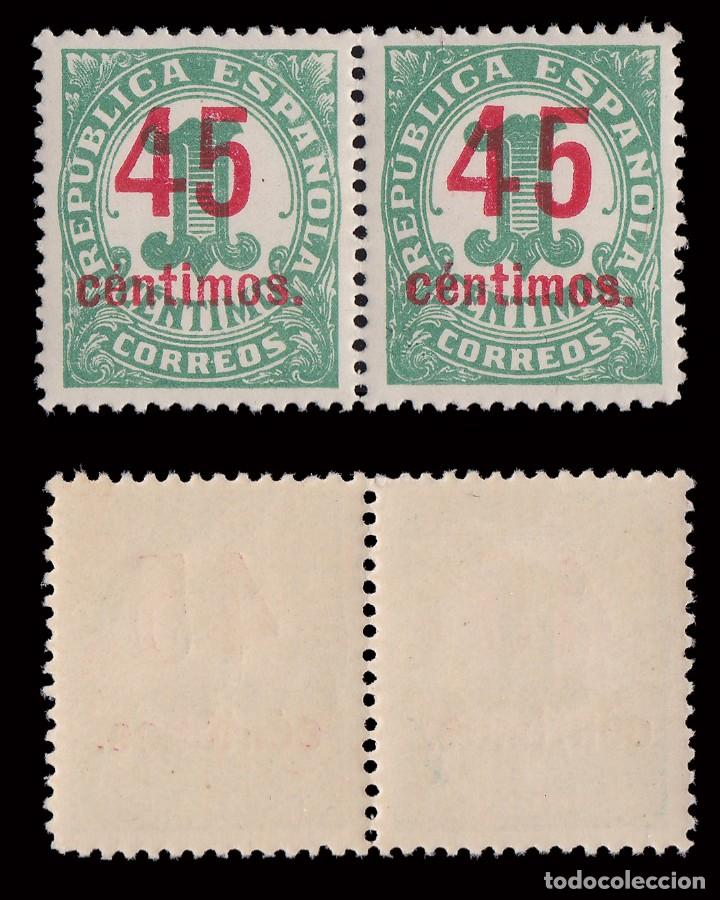 Sellos: 1938. Cifras.CENTRADOS.Serie Blq2. MNH.Edifil.742-744 - Foto 2 - 252184390
