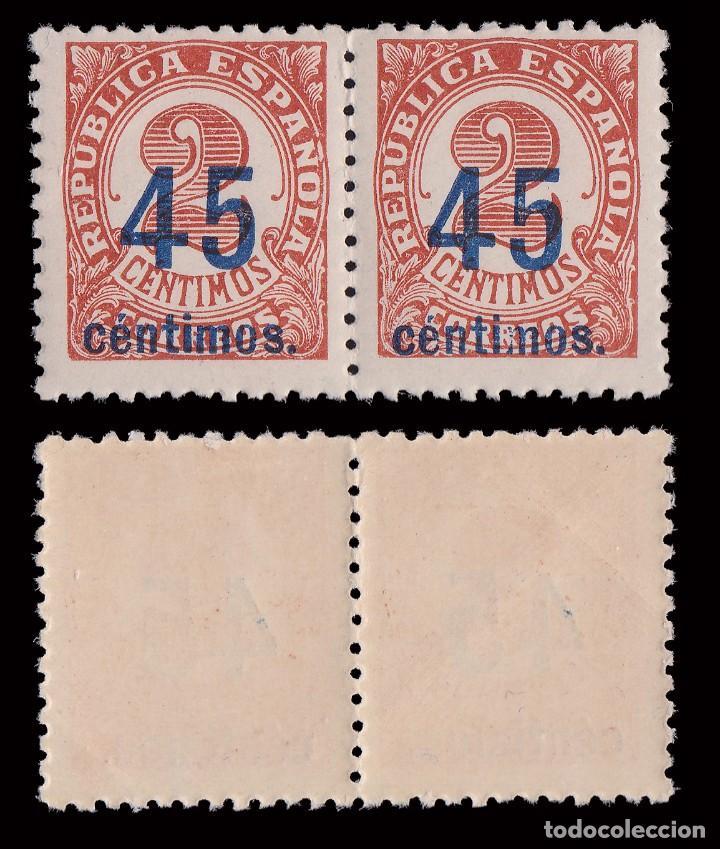Sellos: 1938. Cifras.CENTRADOS.Serie Blq2. MNH.Edifil.742-744 - Foto 3 - 252184390