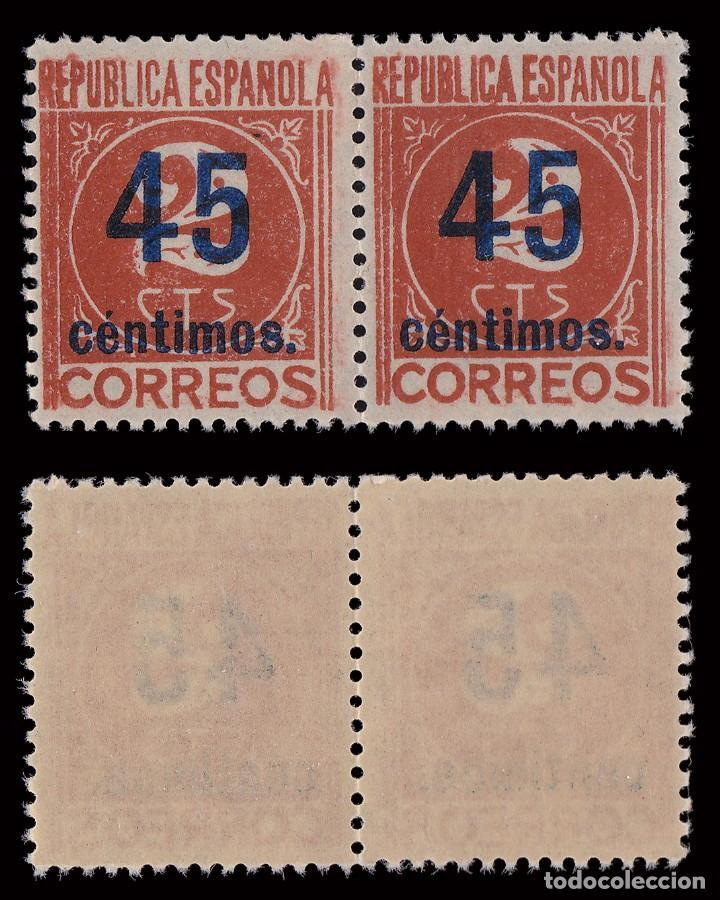 Sellos: 1938. Cifras.CENTRADOS.Serie Blq2. MNH.Edifil.742-744 - Foto 4 - 252184390
