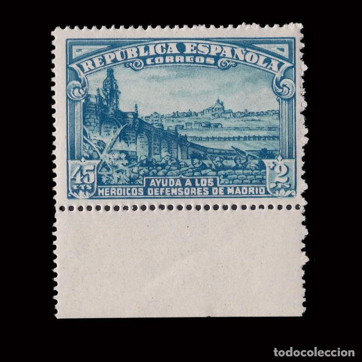 1938.DEFENSA MADRID. 45C+2P.MNH.EDIFIL. 757 (Sellos - España - II República de 1.931 a 1.939 - Nuevos)
