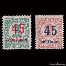 Sellos: 1938.CIFRAS.VARIEDADES DE PERFORACIÓN.NUEVO.EDIFIL.742D-743D. Lote 252202500