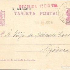 Selos: ENTERO POSTAL 69. CIRCULADO DESDE BRIHUEGA - GUADALAJARA A SIGUENZA. 1934. Lote 252363055