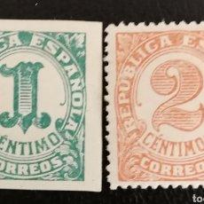Selos: ESPAÑA N°677/78 MH* CIFRAS 1933 (FOTOGRAFÍA REAL). Lote 253680435