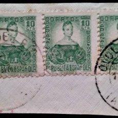 Sellos: OLULA DEL RIO ALICANTE BISECTADO MARIANA DE PINEDA EDIFIL 681. Lote 253863085