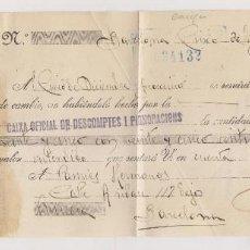 Sellos: LETRA DE CAMBIO. 1938. BARCELONA. REINTEGRADA SELLOS DE CORREOS. Lote 253918500