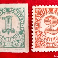 Sellos: ESPAÑA N°677/78 MNH** CIFRAS 1933 (FOTOGRAFÍA REAL). Lote 254186840