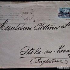 Sellos: ALFONSO XIII VAQUER 1932 BARCELONA SOBRE PUBLICITARIO FAIANC CATALA. Lote 254924610