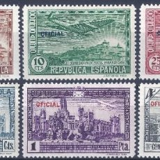 Sellos: EDIFIL 630-635 III CONGRESO DE LA UNIÓN POSTAL PANAMERICANA 1931 (SERIE COMPLETA).HAB. OFICIAL. MLH.. Lote 255382775