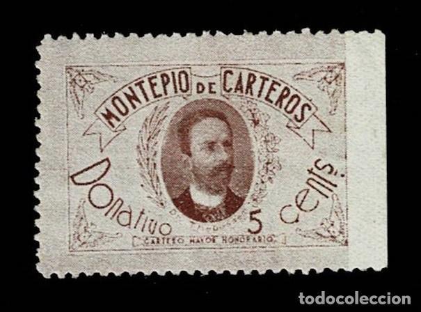 0481 FRANQUICIA DR THEBUSSEM - MONTEPIO DE CARTEROS CARTERO MAYOR HONORARIO. CON FIJASELLOS (Sellos - España - II República de 1.931 a 1.939 - Nuevos)