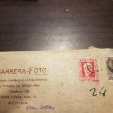 Sellos: SOBRE BARRERA FOTO MÉRIDA SELLOS REPUBLICA. Lote 258218885