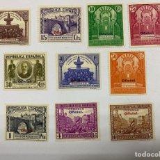 Sellos: ESPAÑA 1931. EDIFIL Nº 620/629. II REPÚBLICA. SERIE COMPLETA. NUEVOS. CON FIJASELLOS. VER. Lote 258868190