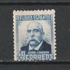 Sellos: ESPAÑA.II REPUBLICA 1931 A 1939.EDIFIL Nº660.NUMERO DE CONTROL AL DORSO.NUEVO CON LEVE SEÑAL.NUEVO. Lote 259334555