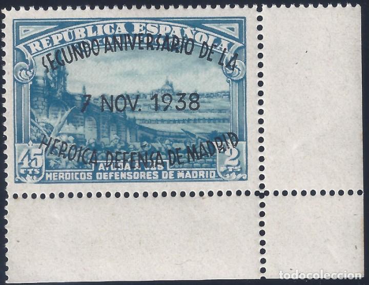 EDIFIL 789 II ANIVERSARIO DE LA DEFENSA DE MADRID 1938. MNH ** (Sellos - España - II República de 1.931 a 1.939 - Nuevos)