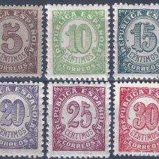 Sellos: EDIFIL 745-750 CIFRAS. 1938 (SERIE COMPLETA). EXCELENTE CENTRADO. MNH **. Lote 260318465