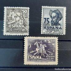 Francobolli: ESPAÑA 1947. EDIFIL 1012/14**. NUEVOS SIN CHARNELA. EL 14 CON CHARNELA Y OSCURECIMIENTO DEL TIEMPO. Lote 260372315