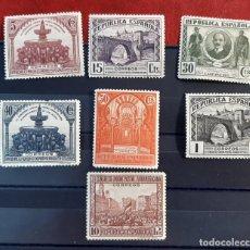 Francobolli: ESPAÑA 1931. EDIFIL 604/613*. NUEVOS CON CHARNELA. ESTÁ EL VALOR CLAVE DE LA SERIE. FALTAN 6,7 Y 12. Lote 260373560