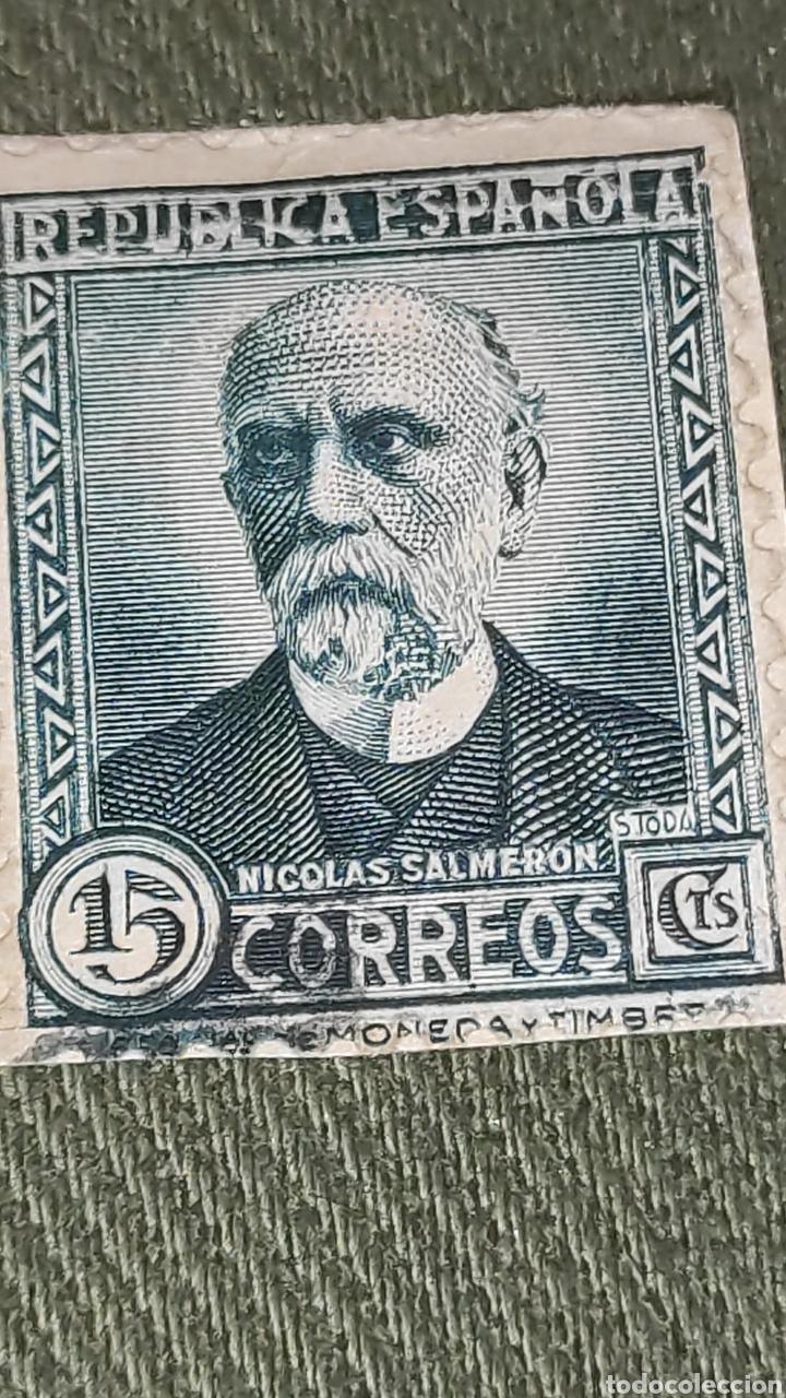 SELLO NICOLÁS CALDERÓN (Sellos - España - II República de 1.931 a 1.939 - Usados)