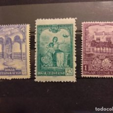 Sellos: AÑO 1937 HOGAR TELEGRÁFICO SELLOS EN NUEVOS EDIFIL 10-11-12 VALOR DE CATALOGO 7.75 EUROS. Lote 261145040