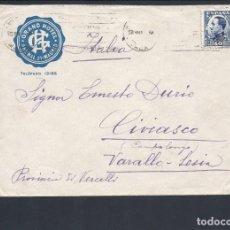 Sellos: REPÚBLICA ESPAÑOLA.AÑO 1931.CARTA CIRCULADA; MADRID-ITALIA.. Lote 261265435