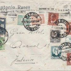 Sellos: II REPÚBLICA ESPAÑOLA. AÑO 1933. CARTA CIRCULACIÓN MADRID-MADRID.. Lote 261274520