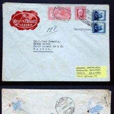 Sellos: II REPÚBLICA ESPAÑOLA. AÑO 1934. CARTA URGENTE CIRCULADA.. Lote 261275950