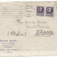 Sellos: II REPÚBLICA ESPAÑOLA. AÑO 1934. CARTA CIRCULADA MADRID - ITALIA.. Lote 261275955