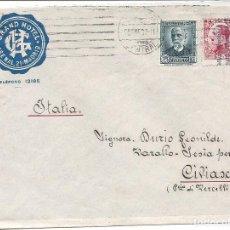 Sellos: ESPAÑA - II REPÚBLICA. AÑO 1932.CARTA CIRCULADA.MADRID - ITALIA. Lote 261278115