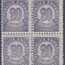 Sellos: EDIFIL 748 CIFRAS 1938 (BLOQUE DE 4). MNH **. Lote 261302005