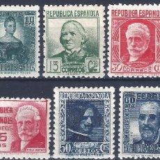 Sellos: EDIFIL 731-740 CIFRA Y PERSONAJES 1936-1938 (SERIE COMPLETA). V. C.: 42 €. MNH ** (SALIDA: 0,01 €).. Lote 261560395