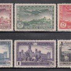 Sellos: ESPAÑA, 1931 EDIFIL Nº 614 / 619 /*/ CONGRESO DE L UNIÓN POSTAL PANAMERICANA,. Lote 261942195