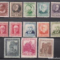 Sellos: ESPAÑA, 1932 EDIFIL Nº 662 / 675 /*/, PERSONAJES Y MONUMENTOS.. Lote 261966645