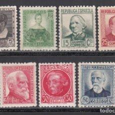 Sellos: ESPAÑA, 1933-1935 EDIFIL Nº 681 / 688 /*/, PERSONAJES. Lote 261969705