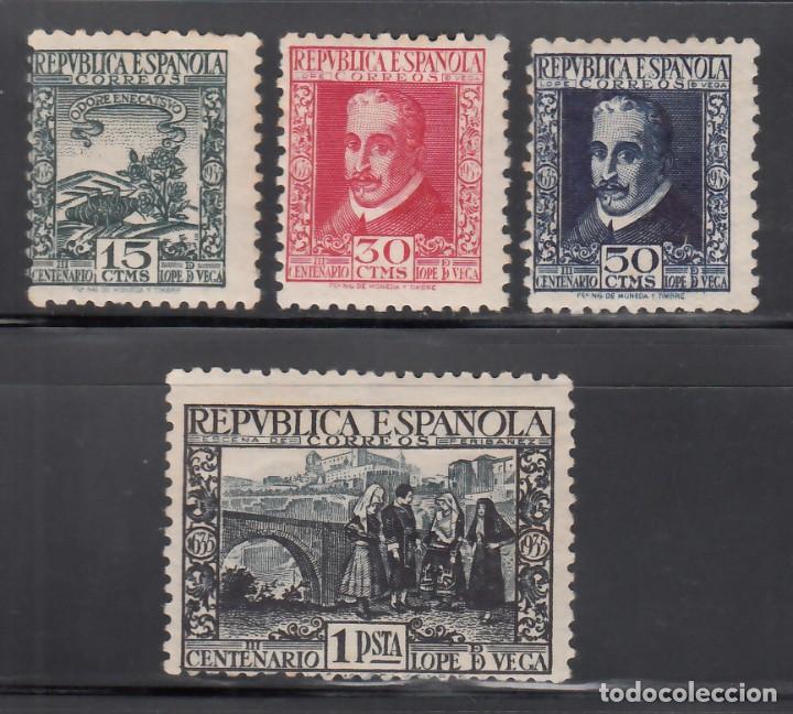 ESPAÑA, 1935 EDIFIL Nº 690 / 693 /*/, CENTENARIO DE LA MUERTE DE LOPE DE VEGA. (Sellos - España - II República de 1.931 a 1.939 - Nuevos)