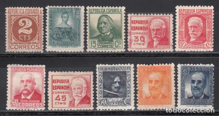 ESPAÑA, 1936 - 1938 EDIFIL Nº 731 / 740 /*/, PERSONAJES (Sellos - España - II República de 1.931 a 1.939 - Nuevos)